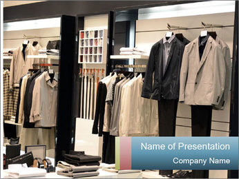 Fashion clothing on hangers PowerPoint Template - Slide 1
