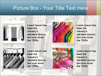 Fashion clothing on hangers PowerPoint Template - Slide 14