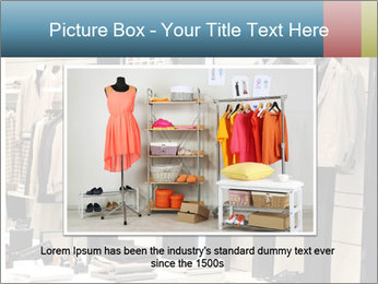 Fashion clothing on hangers PowerPoint Template - Slide 15