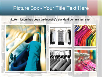 Fashion clothing on hangers PowerPoint Template - Slide 19