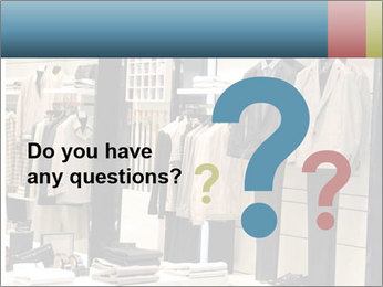 Fashion clothing on hangers PowerPoint Templates - Slide 96