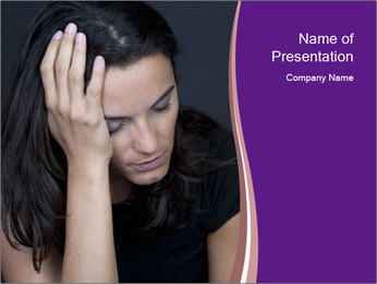 Woman with depression PowerPoint Templates - Slide 1