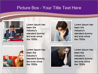Woman with depression PowerPoint Templates - Slide 14