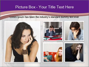 Woman with depression PowerPoint Templates - Slide 19