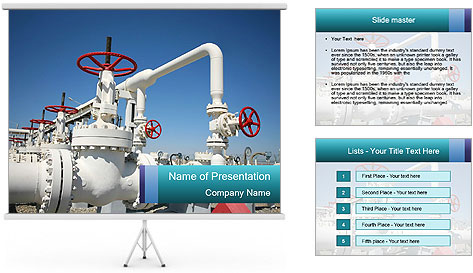 Oil and gas processing plant PowerPoint Template