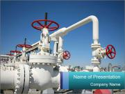 Oil and gas processing plant PowerPoint Templates