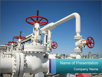 Oil and gas processing plant PowerPoint Template - Slide 1