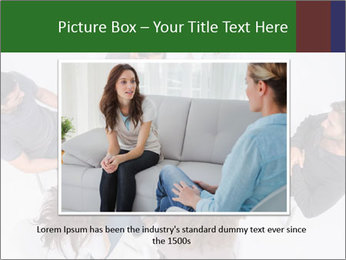 Therapist listening to patient PowerPoint Template - Slide 16