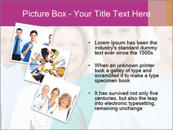Group Of Happy Successful Doctors PowerPoint Template - Slide 17