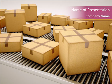 Packages are being sorted PowerPoint Template