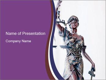 Themis bronze goddess statue PowerPoint Template