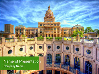Texas State Capitol Building PowerPoint Template - Slide 1