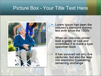 Close up of a man in a wheelchair PowerPoint Template - Slide 13