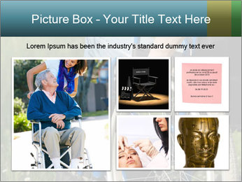 Close up of a man in a wheelchair PowerPoint Template - Slide 19