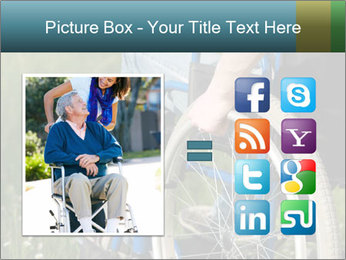 Close up of a man in a wheelchair PowerPoint Template - Slide 21