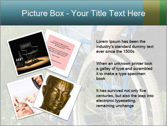 Close up of a man in a wheelchair PowerPoint Template - Slide 23