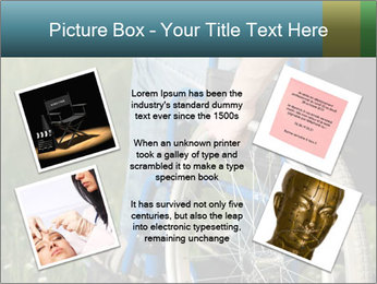 Close up of a man in a wheelchair PowerPoint Template - Slide 24