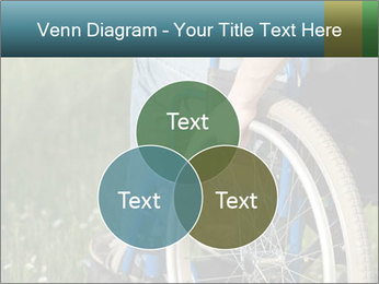Close up of a man in a wheelchair PowerPoint Template - Slide 33