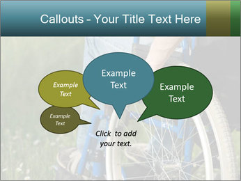 Close up of a man in a wheelchair PowerPoint Template - Slide 73