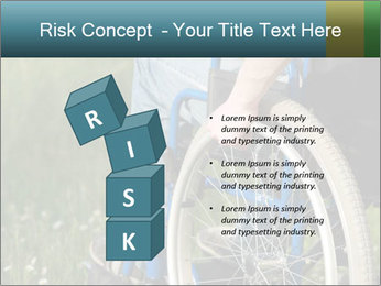 Close up of a man in a wheelchair PowerPoint Template - Slide 81