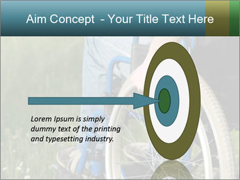 Close up of a man in a wheelchair PowerPoint Template - Slide 83