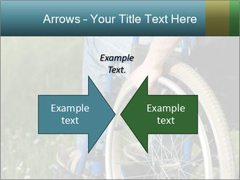 Close up of a man in a wheelchair PowerPoint Template - Slide 90