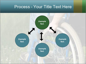 Close up of a man in a wheelchair PowerPoint Template - Slide 91