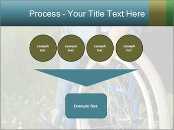 Close up of a man in a wheelchair PowerPoint Template - Slide 93