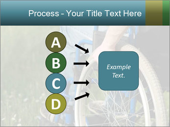 Close up of a man in a wheelchair PowerPoint Template - Slide 94