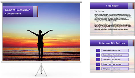 Healthy lifestyle background PowerPoint Template