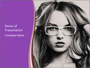 Portrait of beautiful blond woman PowerPoint Templates