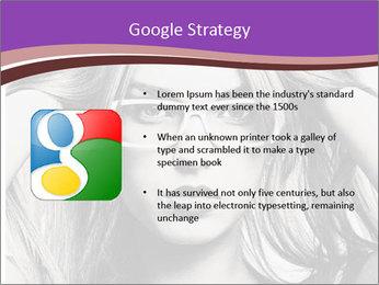 Portrait of beautiful blond woman PowerPoint Template - Slide 10