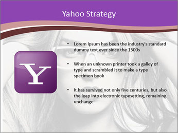 Portrait of beautiful blond woman PowerPoint Template - Slide 11