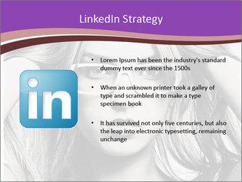 Portrait of beautiful blond woman PowerPoint Template - Slide 12