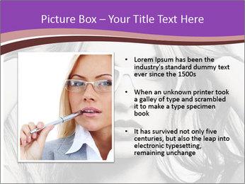 Portrait of beautiful blond woman PowerPoint Template - Slide 13
