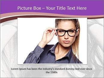 Portrait of beautiful blond woman PowerPoint Template - Slide 16