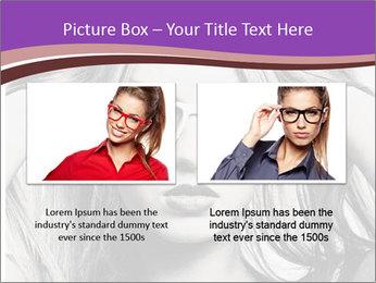 Portrait of beautiful blond woman PowerPoint Template - Slide 18