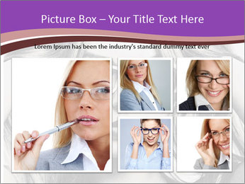 Portrait of beautiful blond woman PowerPoint Template - Slide 19
