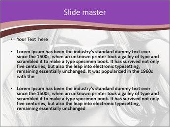 Portrait of beautiful blond woman PowerPoint Template - Slide 2