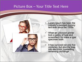Portrait of beautiful blond woman PowerPoint Template - Slide 20
