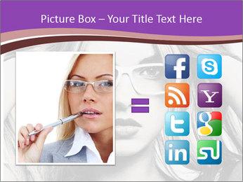 Portrait of beautiful blond woman PowerPoint Template - Slide 21