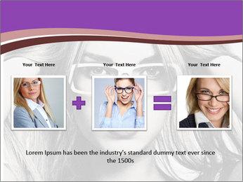 Portrait of beautiful blond woman PowerPoint Template - Slide 22