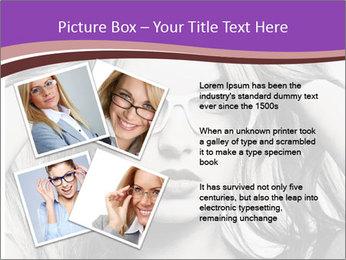 Portrait of beautiful blond woman PowerPoint Template - Slide 23