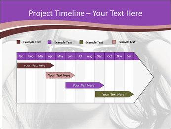Portrait of beautiful blond woman PowerPoint Template - Slide 25