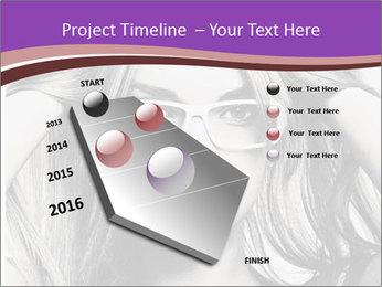 Portrait of beautiful blond woman PowerPoint Template - Slide 26