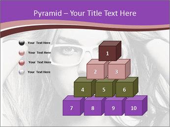 Portrait of beautiful blond woman PowerPoint Template - Slide 31