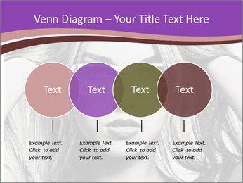 Portrait of beautiful blond woman PowerPoint Template - Slide 32