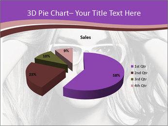 Portrait of beautiful blond woman PowerPoint Template - Slide 35