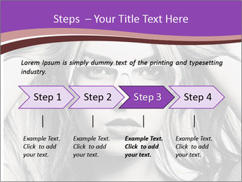 Portrait of beautiful blond woman PowerPoint Template - Slide 4