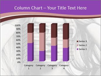 Portrait of beautiful blond woman PowerPoint Template - Slide 50